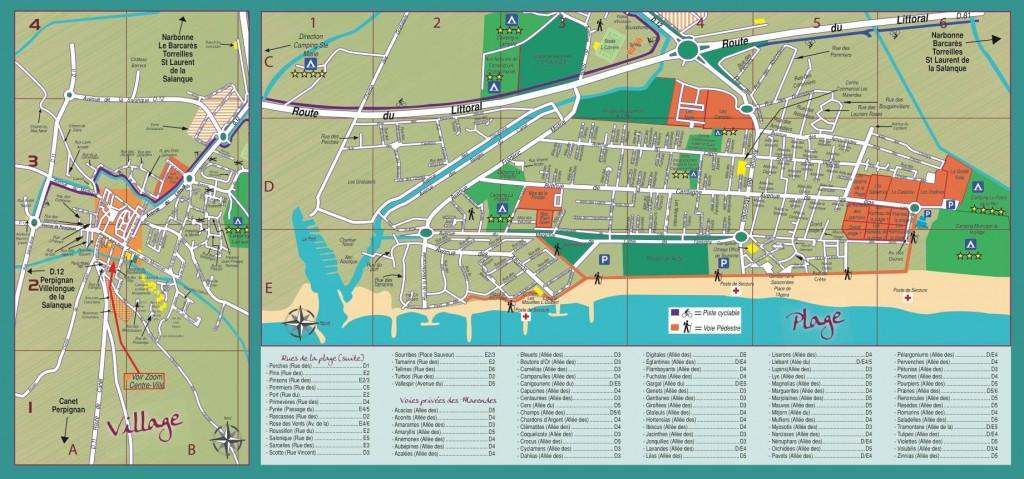 Plan ville de sainte marie la mer 66470 - Piscine oloron sainte marie horaires ...